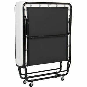 BCP-Rollaway-Twin-XL-Sized-Mattress-Guest-Bed-w-4in-Memory-Foam-Black