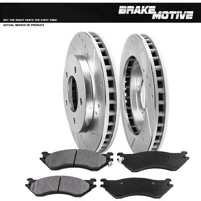 2-Pieces of  Front Disc Brake Rotors for 4-Wheel Drive 1997 to 11//29//1999 Date