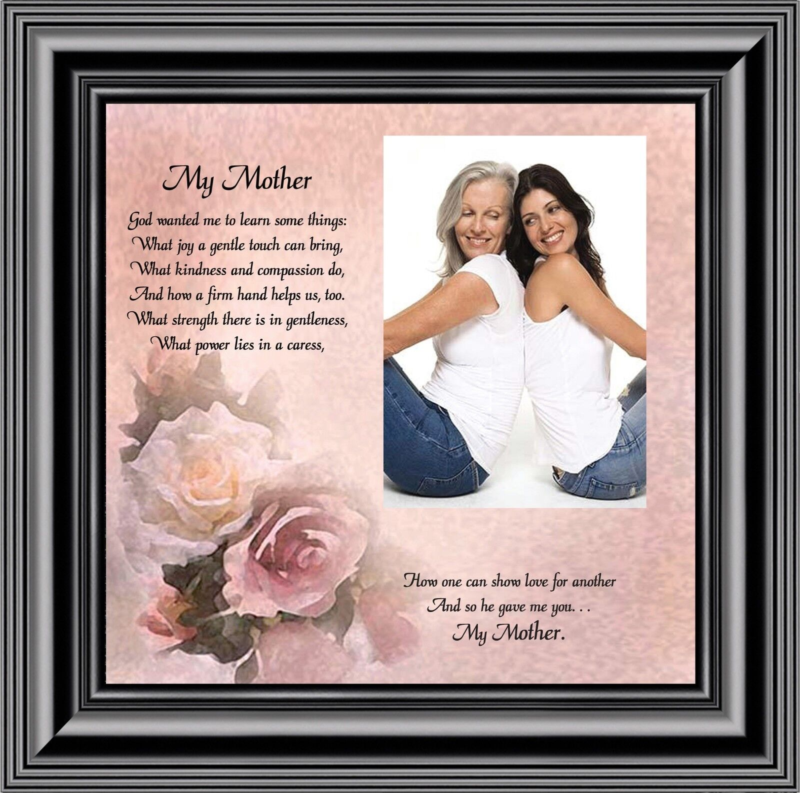 My Mother Personalized Picture Frame Gift From Daughter To Mother