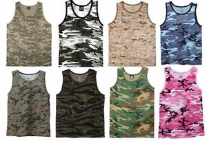 e2308b860455c Image is loading Rothco-Military-Camouflage-Tank-Top-Tactical-Camo-Tank-