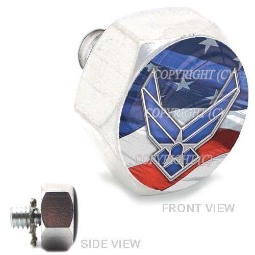 Polished  Billet Hex Air Cleaner Bolt Harley USAF AIR FORCE USA 071