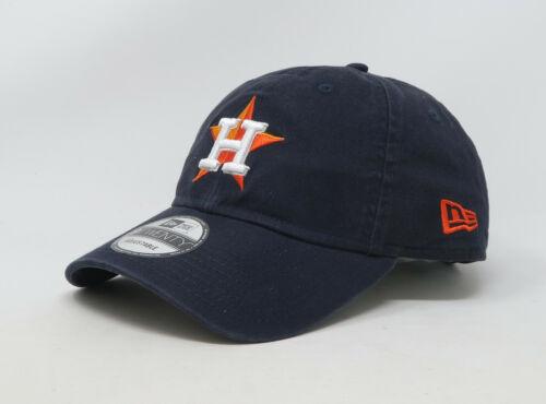 NEW ERA 9Twenty MLB Houston Astros Core Navy Blue Orange Strapback Cap Woman Hat