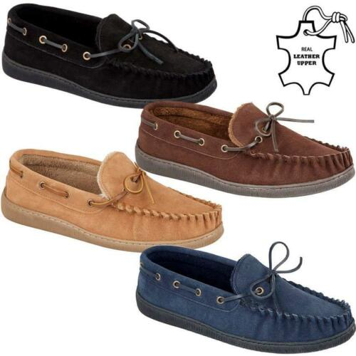 Men Winter Real Leather Suede Fur Sheepskin Loafers Moccasin Warm Slippers Shoes