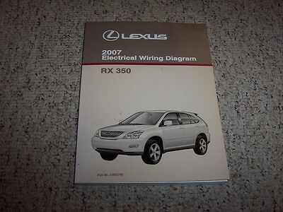 lexus rx wiring diagram 2007 lexus rx350 rx 350 factory original electrical wiring diagram  2007 lexus rx350 rx 350 factory