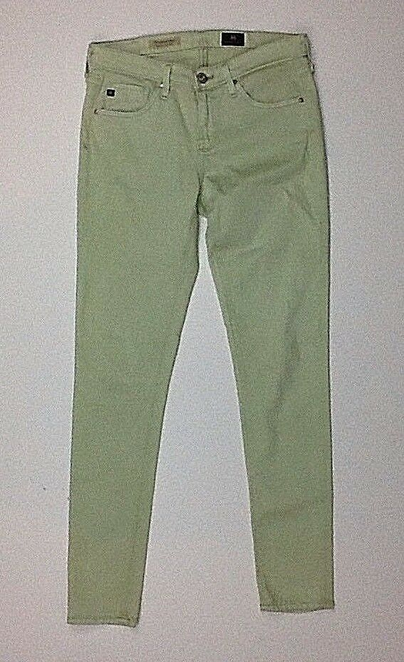 AG Adriano goldschmied Super Skinny Ankle Jeans Size 26 Green (x)