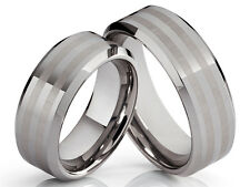 2 Eheringe Trauringe Verlobungsringe aus Wolfram mit gratis Lasergravur