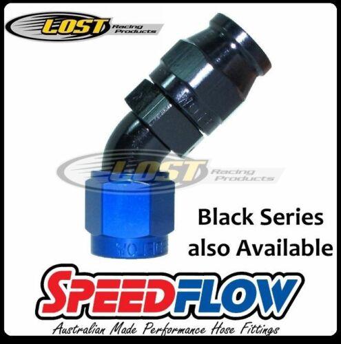 Speedflow 4AN AN4 AN-4 45° 200 Series PTFE Teflon Braided Hose End 202-04-D