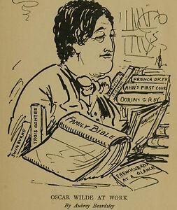 Art-Photo-Print-Oscar-Wilde-At-Work-Beardsley-Aubrey-1872-1898