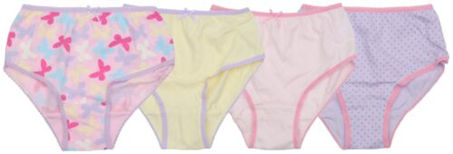 Ex Store 4 Pack Butterfly Dot Mix Briefs Knickers Pink Yellow Lilac