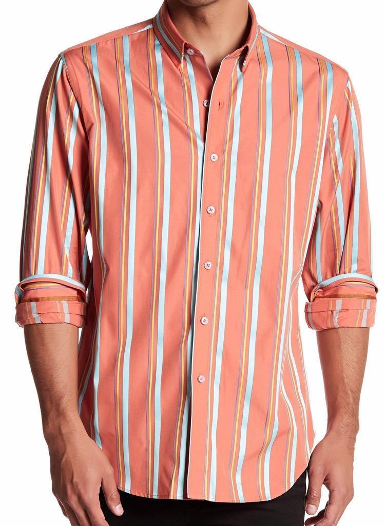 New with Tag -  ROBERT GRAHAM Long Lane orange Classic Fit Shirt Size XL