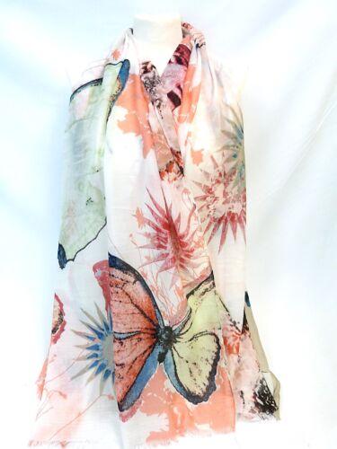 New Lady Women Fashion Stylish Soft Cotton Butterfly Print Scarf Wrap Shawl