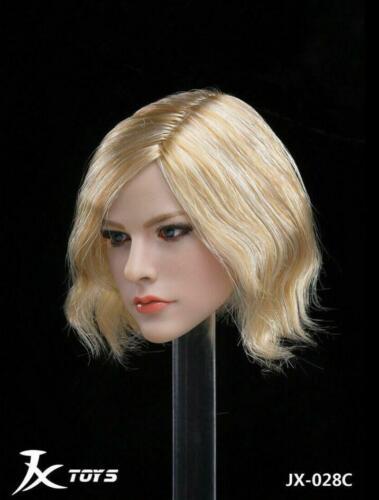 """1//6 Avril Lavigne blonde cheveux court HEAD SCULPT FOR 12/"""" PHICEN TBLeague Figure"""