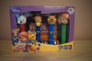 PEZ POOH, TIGGER, DARBY & BUSTER Collectors Boxed Set NIB (R517)