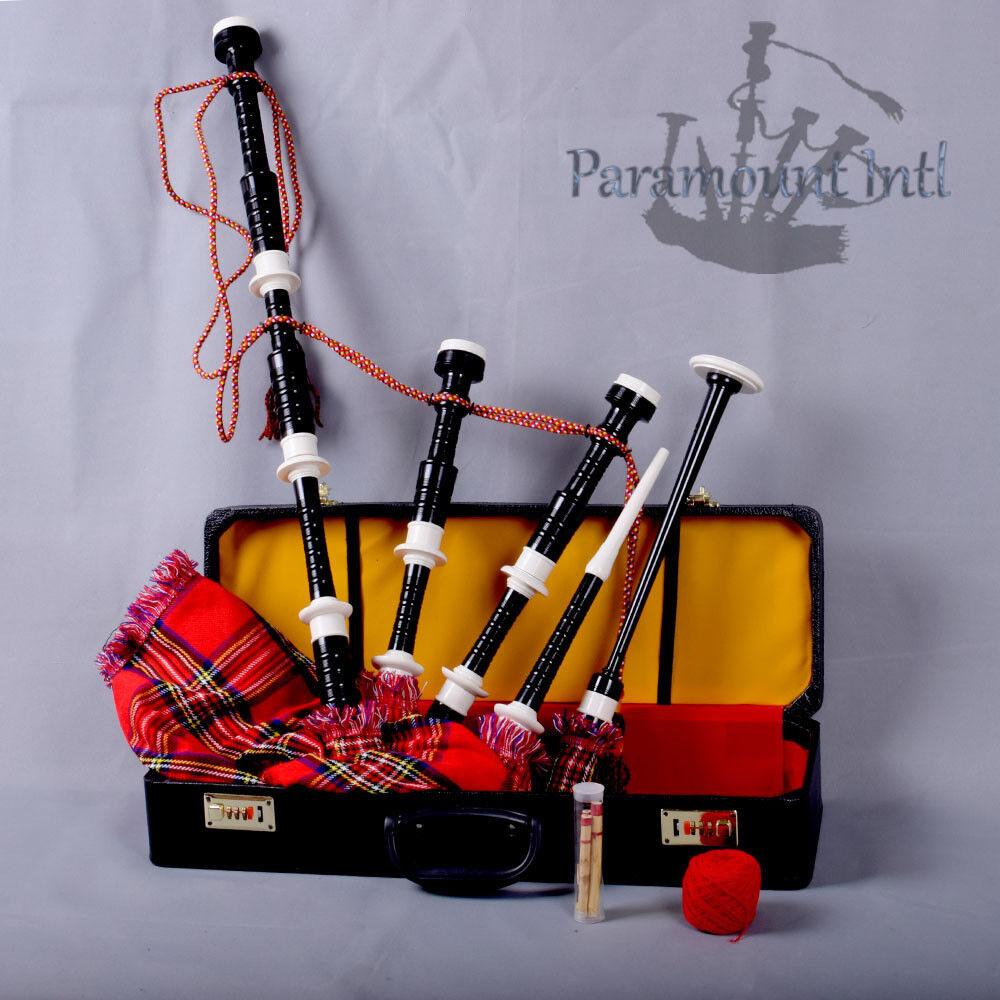 Scottish Highland Bagpipe Tartan Great Royal Stewart Various Fns Mounts