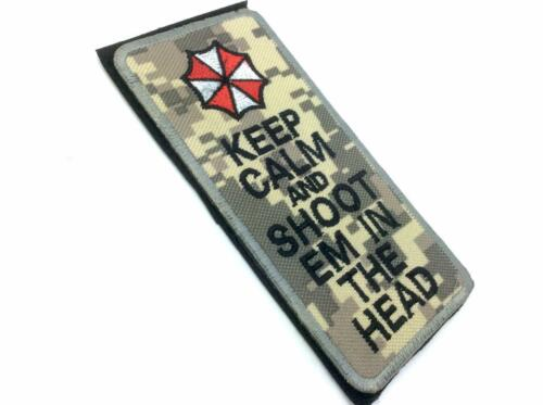 Keep Calm /& Shoot Em In The Head ACU Camo Embroidered Airsoft Patch