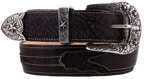 Mens Brown Elephant Pattern Genuine Leather Rodeo Cowboy Belt Cinto Rancho