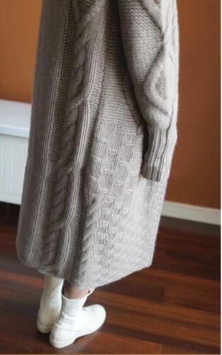 Da Donna Designer Felpa con cappuccio ispirata Cashmere Lungo Oversize Maglieria Cardigan