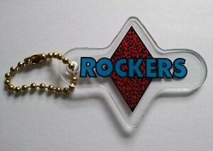 Williams Rollergames Rockers Pinball Keychain Roller Derby Sports Team 1990