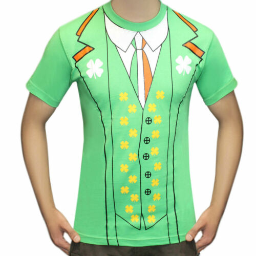 Unisex irlandese St Patrick/'s Day Stampa T Shirt Stag Do Fancy Dress Shirts