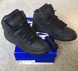 wholesale dealer 70032 6d30d Image is loading Nike-SB-Dunk-High-Premium-Black-Out-sz-