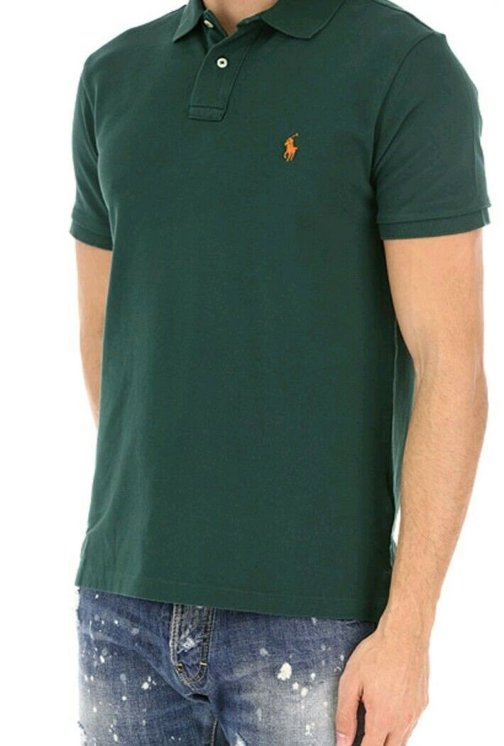 POLO RALPH LAUREN CLASSIC POLO SHIRT S W PINE SHORT SLEEVE SIZE UK XXL