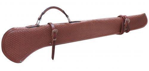 Showman Pistola Funda 40  pulgadas Fileteado medio de cuero y hebillas de cobre