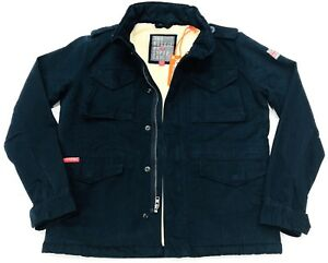 BNWT-Superdry-Women-039-Winter-Rookie-Military-Jacket-In-Navy-Blue-Size-M