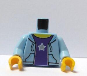 Lego 1 Body Torso For Minifigure Figure White Blue Hoodie Hoody  Jumper Sweater