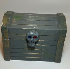 Melissa and Doug Wooden Pirate's Treasure Chest With Skull Latch