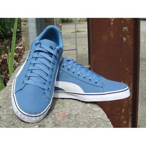 5ce300801804c2 PUMA PUMA 1948 Vulc CV Canvas Shoes Trainers 359864 01 Blue Heaven UK 6.5  Blues for sale online