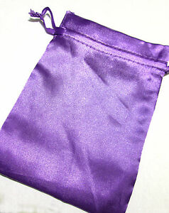 Purple-Satin-Drawstring-Pouch-7x5in-QTY1-Gift-Jewelry-Wedding-Crystals-Bag-B036