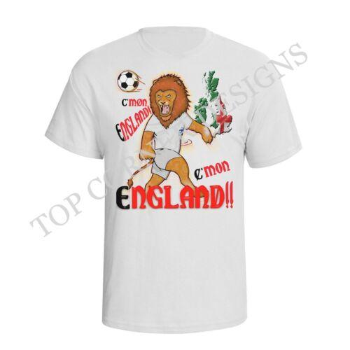 Mens ENGLAND Football Mascot T-Shirt Womens World Cup 2019 Supporter Shirt Top