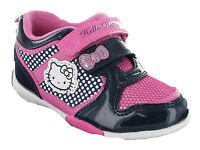 Hello Kitty Dahlia Velcro Trainers Girls Kids Infants Pink Navy Shoes UK6-12