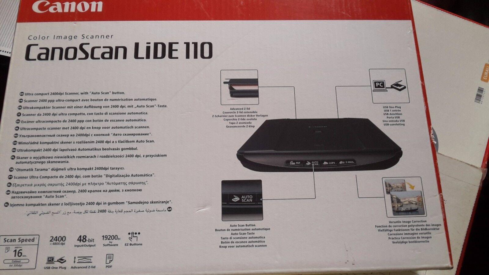 Canon CanoScan LiDE 110 Flatbed Scanner | eBay