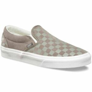 dbe5264cc5 Image is loading SALE-VANS-CLASSIC-SLIP-ON-LEATHER-CHECKER-EMBOSS-