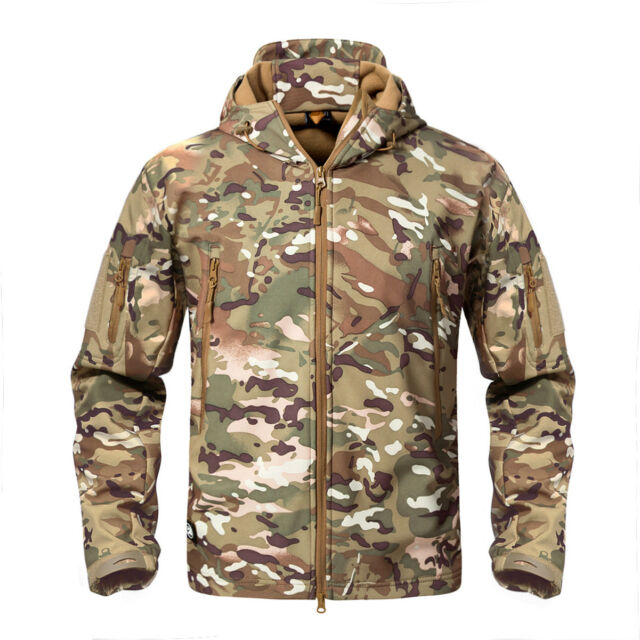 TACVASEN Shark Skin Soft Shell Mens Military Jackets Waterproof ... f6cad6ba3c