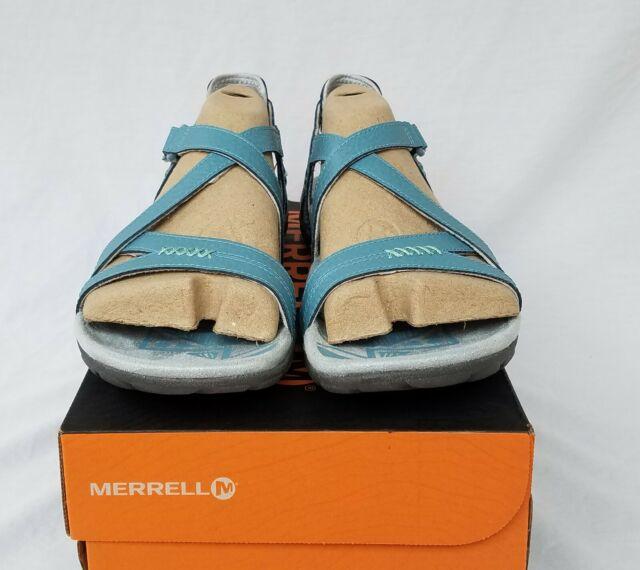 New Women's Merrell Sandspur Rose Sandals Blue Smoke