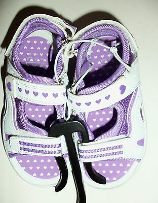 Girls Sandals in Pink or Purple F&F