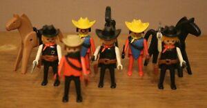 Playmobil Vintage Western Lot Sherifs et Mercenaires à Cheval
