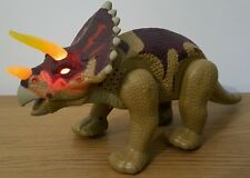 LARGE DINOSAUR WALKING  , HEAD, TAIL MOVEMENT EYES HORN LIGHTS WITH SOUND 36cm