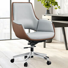 Vilobos Home Office Chair Pu Leather Ergonomic Adjustable Executive Seat Swivel