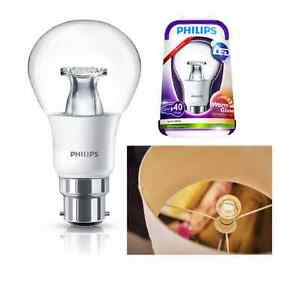 philips led 6w light bulb bc warmglow dimmable eq to 40w b22d bayonet very warm ebay. Black Bedroom Furniture Sets. Home Design Ideas