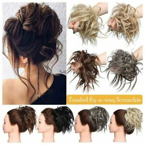 Large-Thick-Messy-Bun-Hair-Scrunchie-Updo-Cover-Wavy-Curly-Hair-Extensions-A