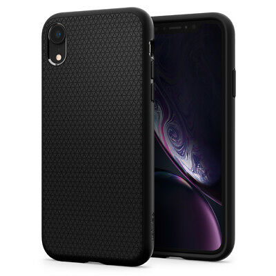 For iPhone XR Spigen® [Liquid Air] Slim Hybrid Protective Shockproof Case Cover