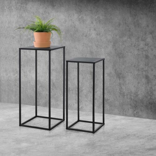 Säulentisch 2er-Set Beistelltisch Satztisch Pflanztisch Metall Kratzfest Tisch
