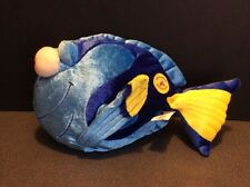 "10"" Dory Fish Finding Nemo Hong Kong Disneyland Disney Pixar Plush Blue Tang EUC"