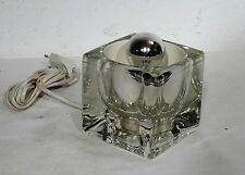 Peill & Putzler Glas Kubus Nachttischleuchte Würfel Lampe vintage Icecube ~ 70's
