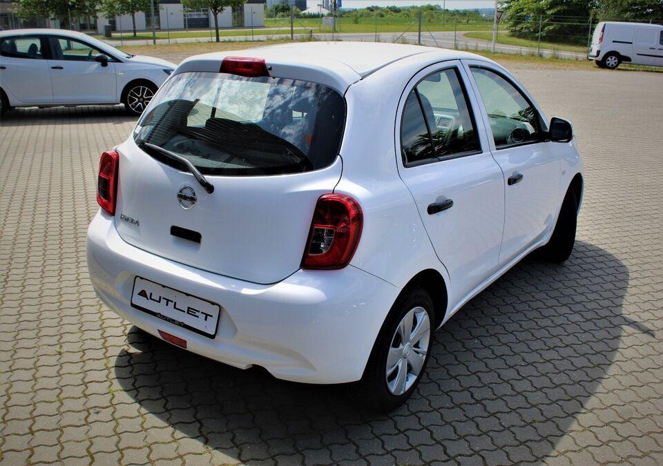 Nissan Micra 1,2 Visia Benzin modelår 2016 km 48000 Hvid ABS