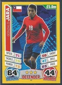 TOPPS MATCH ATTAX  BRAZIL 2014 WORLD CUP #049-CHILE-GONZALO JARA