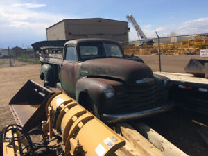 1950, Chevy truck restoration project.